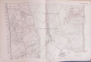1885 HISTORIC RIVERDALE VAN CORTLANDT PARK WOODLAWN CEMETERY BRONX ...