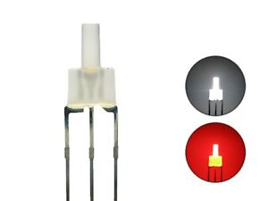 S448-20-Stueck-DUO-LEDs-2mm-Bi-Color-weiss-rot-diffus-Lichtwechsel-Loks-DIGITAL