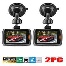 "2 Full HD 1080P 2.4"" Car DVR Vehicle Camera Video Recorder Night Vision Dash Cam"
