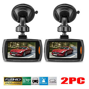 "2 Full HD 1080P 2.4"" Car DVR Vehicle Camera Video Recorder Night Vision Dash Cam"