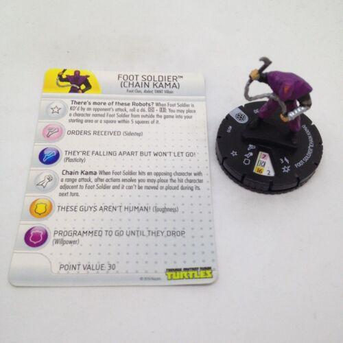Heroclix Teenage Mutant Ninja Turtles set Foot Soldier #010 Common figure w/card
