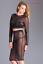 L XL m Noir 2 Glamour M Translucide Pièces Taille Haut L S Sexy Jupe Top zqPxOFO