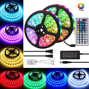 5M-LED-luz-de-tira-3528-5050-SMD-RGB-300-LED-44Key-controlador-ir-con-fuente-de-alimentacion
