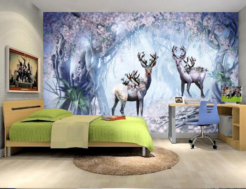 3D Wunderland Hirsch 74 Tapete Tapete Tapete Wandgemälde Tapete Tapeten Bild Familie DE Summer | Günstigen Preis  | Verschiedene Waren  |  928442