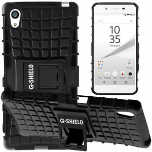 finest selection 25f01 1afdd Details about G-Shield® Shockproof Heavy Duty Hard Armour Stand Case Cover  For Sony Xperia Z5