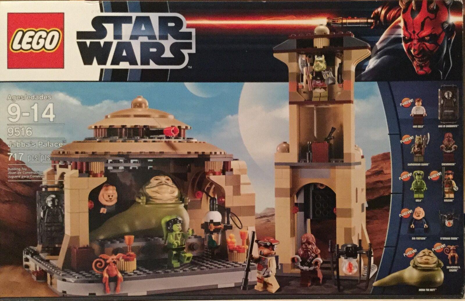 LEGO estrella guerras 9516 717 pcs 10 mini  cifras JABBA'S PALACE Han Solo autobonite  più ordine