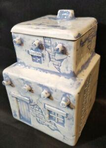 Vtg-Southwestern-Pueblo-Canister-Lid-Cookie-Jar-Ceramic-Jay-Kay-Molds-Handmade