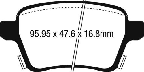 EBC Ultimax Rear Brake Pads Opel Corsa 1.6T OPC Performance Pkg 207HP 2014 on