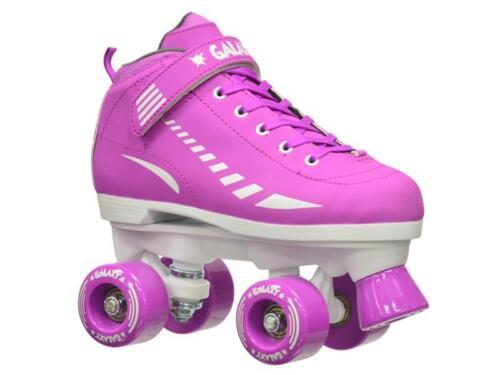 Purple Epic Galaxy Elite Indoor Outdoor Quad Roller Speed Skate Bundle New