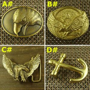 Collectable-Eagle-Anchor-Solid-Brass-Belt-Buckle-Men-039-s-Women-039-s-Belt-Buckles