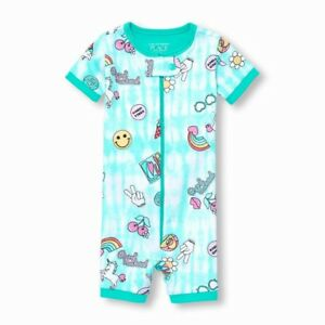 TCP BABY GIRL 1PC GOOD VIBES UNICORN CROPPED STRETCHIE ROMPER PAJAMAS 9-12M 5T