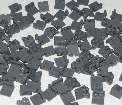 LEGO LOT OF 100 DARK BLUISH GREY 1 x 2 2 x 2 BRACKET PIECES