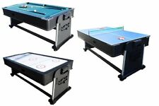 3 In 1 ROTATING COMBINATION MULTI GAME TABLE ~ POOL ~ AIR HOCKEY ~ PING PONG
