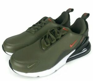Mens Nike Air Max 270 Premium Leather Olive Athletic Fashion Sneakers BQ6171 200