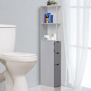 Mobel Bathroom Cabinet Side Tall Storage Unit Shelf Cupboard Drawer