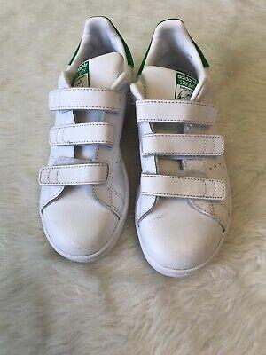 Kids Stan Smith Adidas White Green Sole