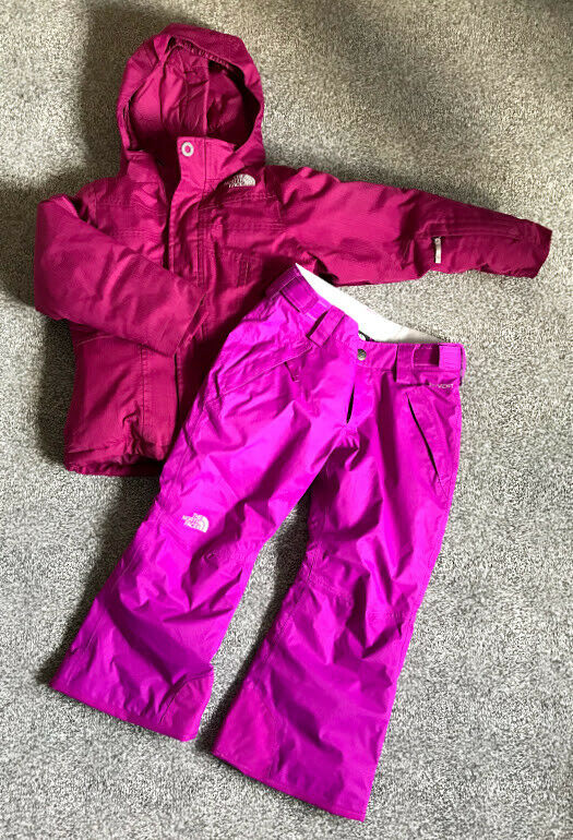 THE NORTH FACE GIRLS SKI JACKET AND PANTS Größe XS   6 YEARS