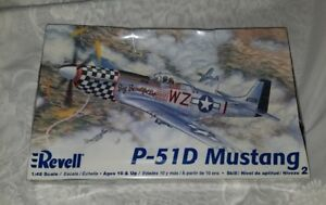 Revell-P-51D-Mustang-1-48-Scale-Model-Airplane-KIt-WWII-Sealed