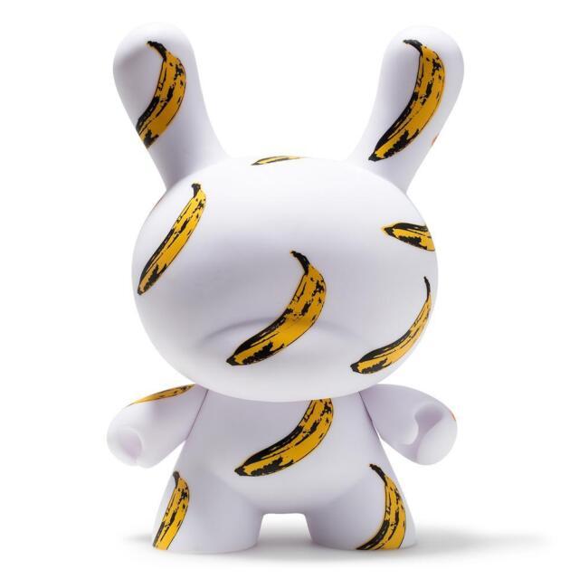 KidRobot Limited Andy Warhol Masterpiece 8 Inch Banana Print Dunny Vinyl Figure