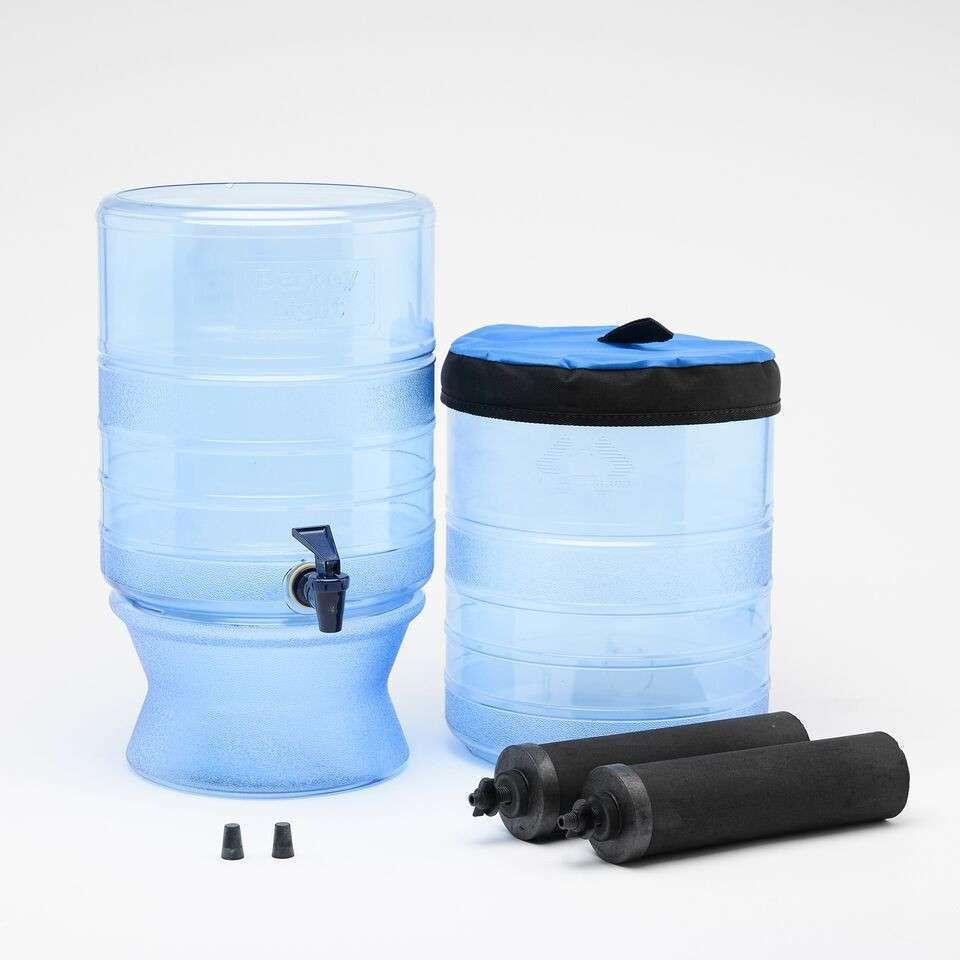 BERKEY LIGHT Water Filter System w  Sport Berkey Water Bottle & PF-2 Fluoride