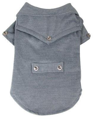 New Dog Pet Clothes Apparel Gray Woolen Cloth OutCoat Fit Medium&Big Dog 2XL-5XL