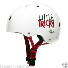 Triple 8 - Little Tricky - White Dual Certified Youth skate Helmet with EPS JR