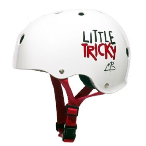 White Dual Certified Youth skate Helmet with EPS JR Little Tricky Triple 8
