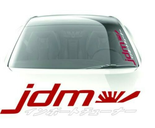 JDM Kanji Decals Windshield Banner Car Stickers