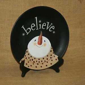 Believe-Snowman-Decorative-Plate-On-Stand-Hearthside-Collection