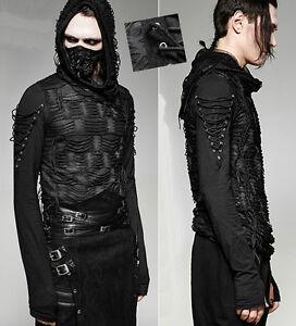 EN-STOCK-Haut-t-shirt-hoodie-gothique-punk-metal-destroy-capuche-PunkRave-Homme