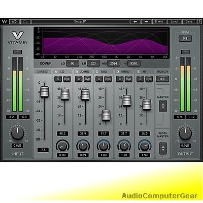 Waves VITAMIN SONIC ENHANCER Audio Software Plugin Exciter NEW