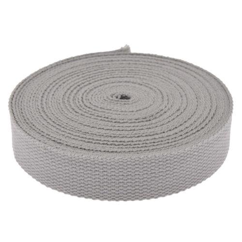 25MM Polyester Cotton Ribbon Backpack Strap Tapes DIY For Belt Bag Trimming Trim