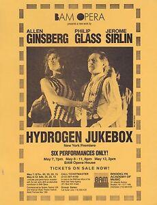 ALLEN-GINSBERG-PHILIP-GLASS-HYDROGEN-JUKEBOX-OPERA-1991-FLYER