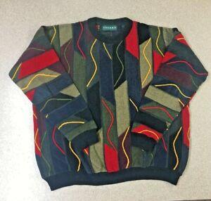 Herren-Vintage-Tundra-Pullover-Canada-Groesse-XL-3d-strukturiert