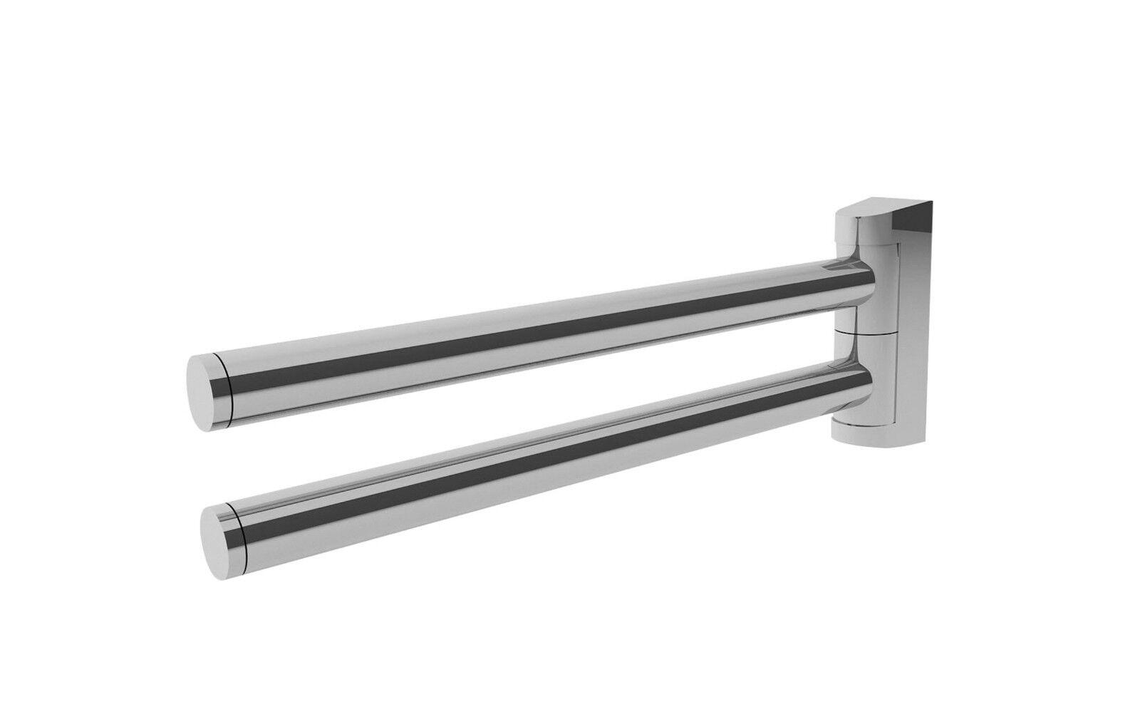 Vigour Derby Handtuchhalter  35 cm  schwenkbar  Chrom  2 armig  DEHH35
