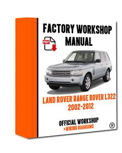 RANGE ROVER L322 2007-2012 WORKSHOP SERVICE MANUAL DOWNLOAD ONLY