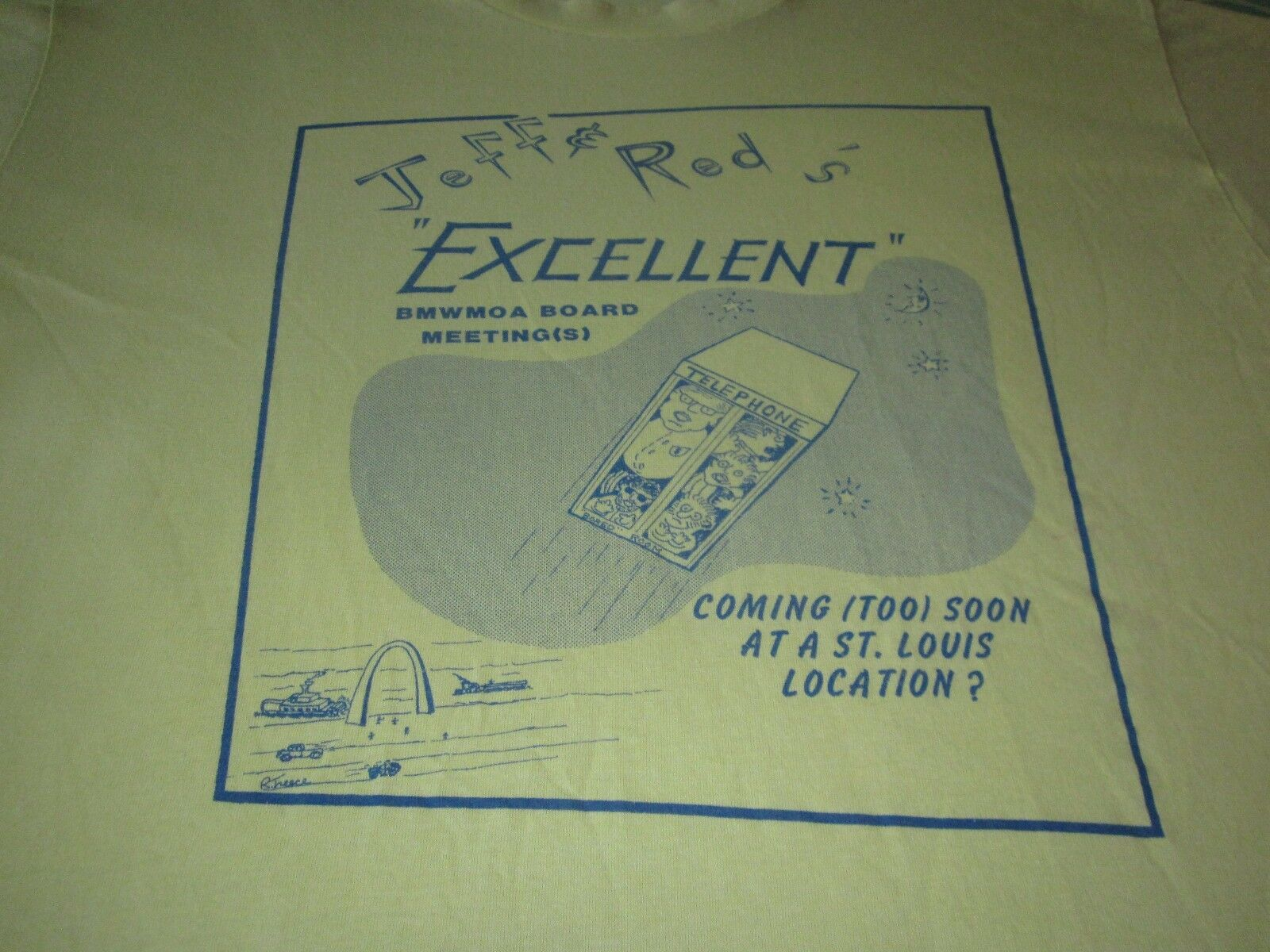 JEFF & ROTS EXCELLENT ADVENTURE VINTAGE 80S TEE SHIRT XL