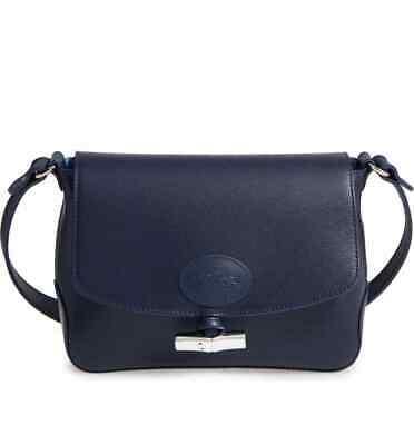 NWT Longchamp Roseau Flap Leather Toggle Crossbody Bag Navy Blue $450  AUTHENTIC 3597921274575 | eBay
