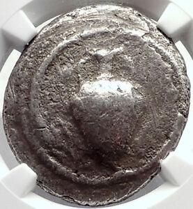 TERONE-in-MACEDONIA-Rare-R2-Ancient-SIlver-Tetradrachm-Greek-Coin-NGC-i69810