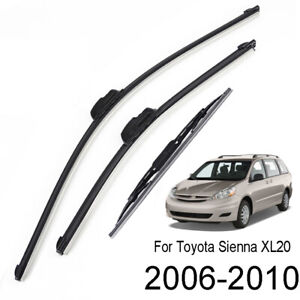 3pcs Set Front Rear Wiper Blades 26 19 16 For Toyota Sienna