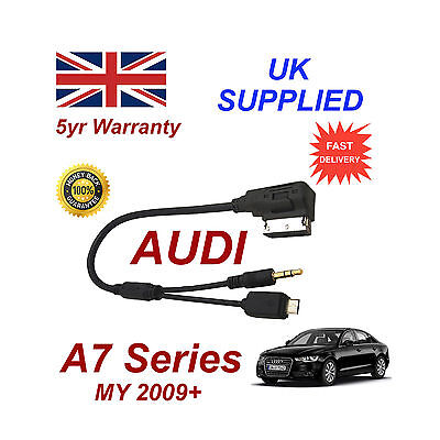 Experto For Audi A7 Audio Cable For Samsung Galaxy With Micro Usb & Aux 3.5mm Cable
