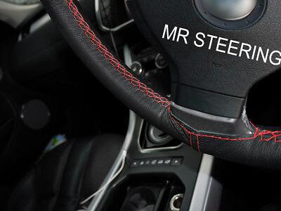 Luminosa Si Adatta Volkswagen Fox 2004-11 Vera Copertura Volante In Pelle Rossa Doppia Cucitura- Prestazioni Affidabili