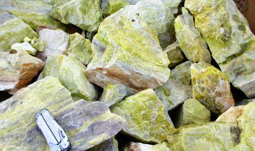 Serpentin Jade Rohsteine 10 kg aus Indien Natur!