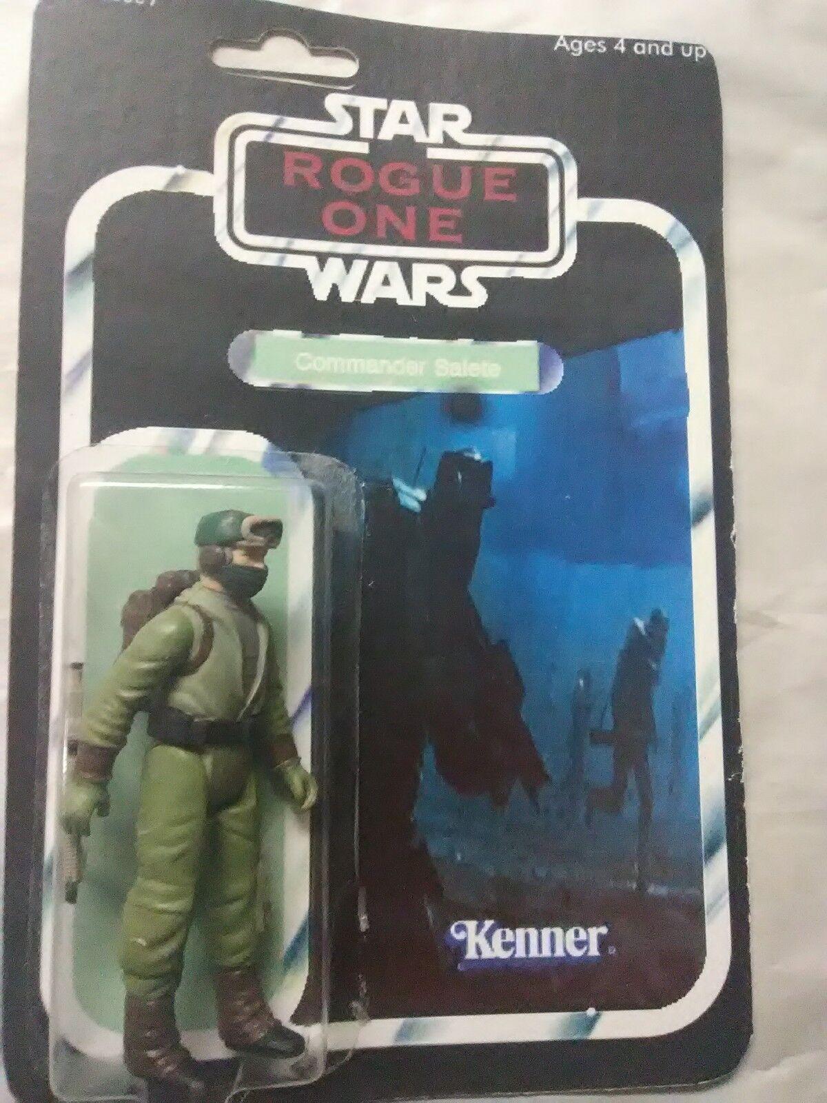 STAR WARS ROGUE ONE COMMANDER COMMANDER COMMANDER SALETE DKE BOOTLEG FIGURE 1 1 & CASE 2b9a77