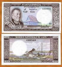 Lao / Laos, Kingdom, 100 Kip, ND (1974), P-16, UNC > King Savang in Uniform