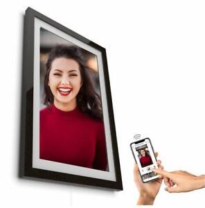 Digitaler-Bilderrahmen-Framen-Player-21-5-034-55cm-schwarz-mit-Smartphone-Steuerung