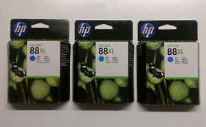 3 X Hp Original 88xl Cyan C9391a Officejet Pro I 7555 7550 7500 A