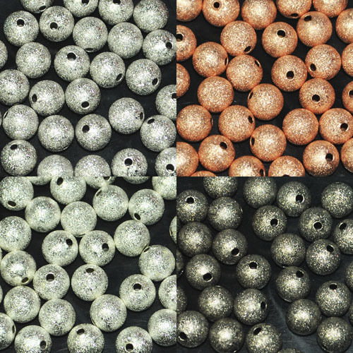 Round Frost Metal Spacer Beads Seamless 3mm 4mm 5mm 6mm 8mm 10mm 12mm