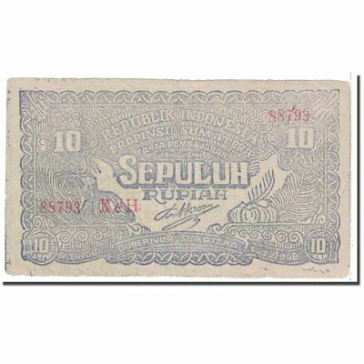 #122857 Indonesia 1948 Banknote Km:s190b Ef To Win A High Admiration 10 Rupiah 1948-01-01 40-45 New Fashion