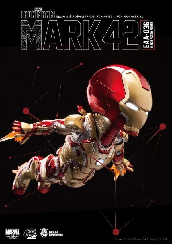 Acción de ataque de huevo EAA-036 MARVEL IRON MAN 3 Mark XLII 42